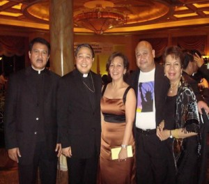 TBTKish Gathering of our Paring Bol-anon,USA in NYC.  With the TBTK Chairperson Betty Veloso-Garcia, from left: Fr. Doming Orimaco,Papal Nuncio to Haiti, Bishop Barney Auza, Fr. Roel Lungay,TBTK song composer, and Minda Mascarinas-Cadag.