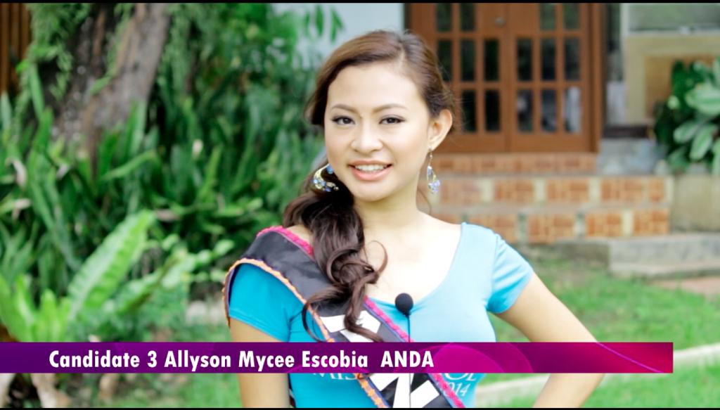 Miss Anda Allyson Mycee Escobia.