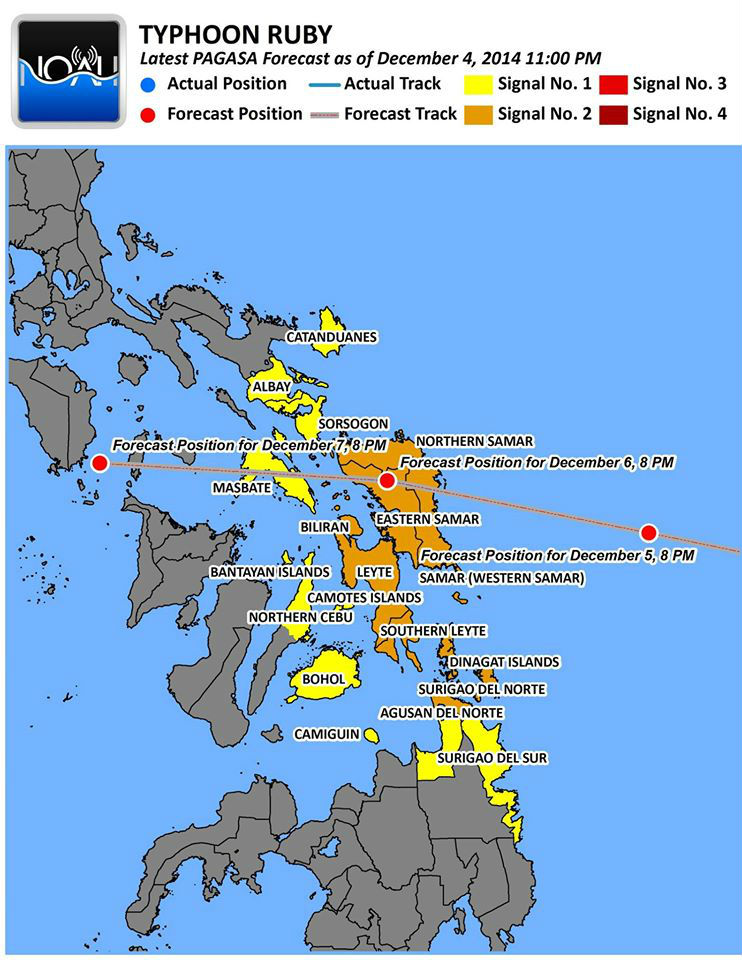 NOAH (Philippines) forecast path and typhoon advisories.
