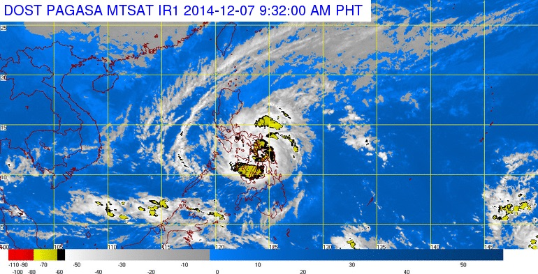 Latest satellite image from PAGASA.