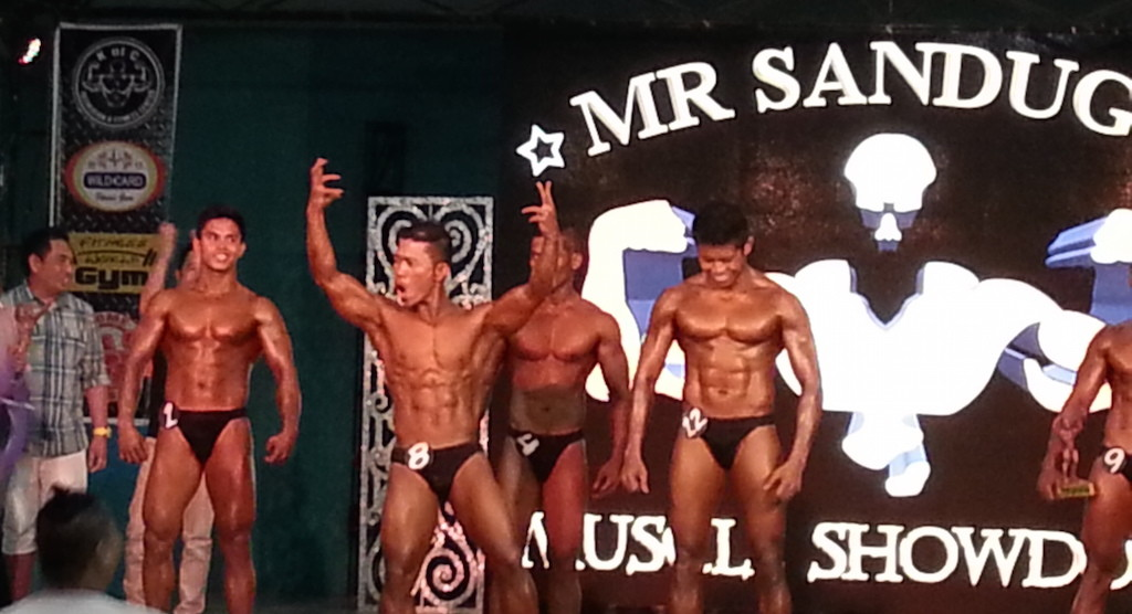 Mr. Bohol Sandugo 2015 Muscle Showdown winner June Lopena (#8)