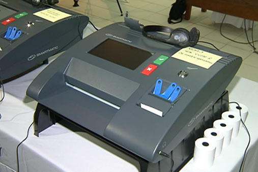 The vote counting machine.